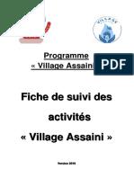 Fiche de Suivi Village Assaini