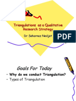 Triangulations as a Qualitative Research Strategy (1)