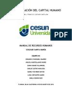 Manual de Recursos Humanos - Colegio Santa María