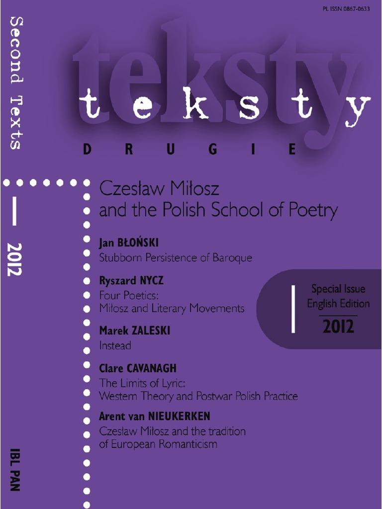 Milosz Escuela Polacapdf Poetry Romanticism