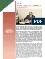 Recordando a Don Guillermo Durand Florez. N° 1