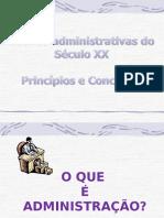 1aula Teorias Administrativas Do Sculo 20 Atualizada Em 27-07 (1)