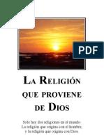Cg La Religion Que Proviene de Dios