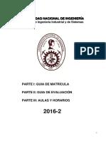 Reglamento de Matricula 2016-2