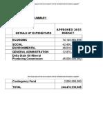 Delta State 2016 Budget Document