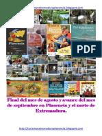 Boletin Fin de Agosto y Avance Septiembre en Plasencia y Norte de Extremadura