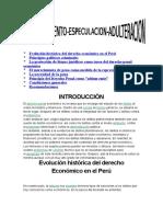 Evolución Histórica Del Derecho Económico en El Perú