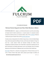 Fulcrum Partners Supports Luis Palau Global Ministry in Malawi