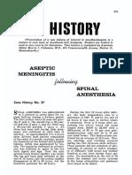 Aseptic Meningitis Following Spinal Anesthesia.13