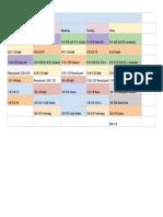 6th grade schedule - sheet1