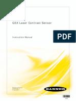 Banner Q3X Laser Contrast Sensor