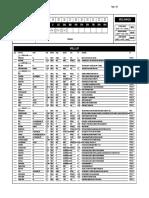 AdVance Spell Sheet