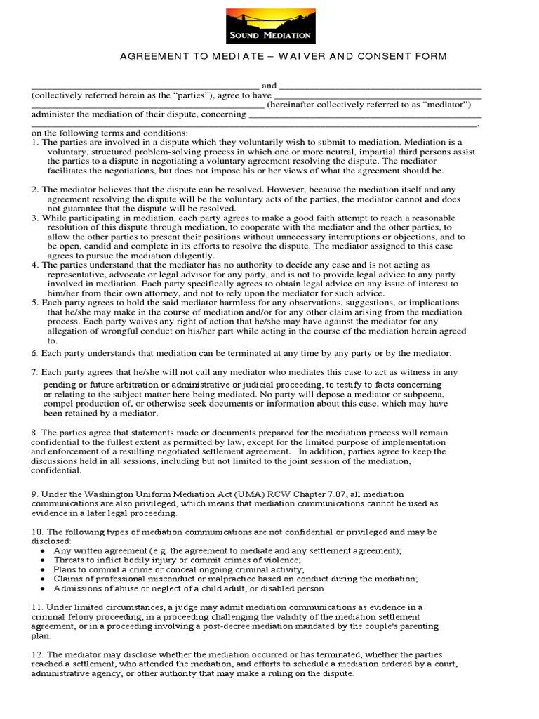 Agreementtomediate Settlement Litigation Mediation