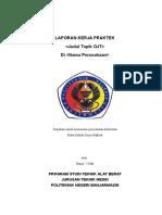 Format Laporan Kerja Praktek OJT Alat Berat