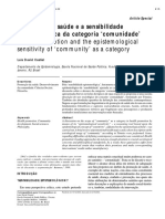 Promoção de saúde e a sensibilidade epistemológica da categoria 'comunidade