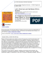 An Indigenous Autonomous Community- Based Model for Knowledge Production in the Peruvian Andes Tirso Gonzales Published online