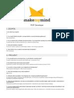FAQ PHP develoepr