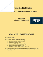 Surviving the Big Rewrite  Moving YELLOWPAGES COM to Rails Presentation 1