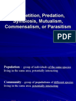 ecology part 2 competition predation symbiosis mutualism commensalism or parasitism