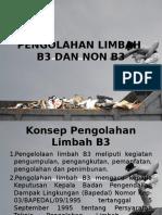 Pengolahan Limbah B3 Dan Non B3