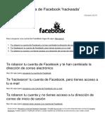 Recuperar Cuenta de Facebook Hackeada