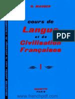 Cours de Langue Et de Civilisation Françaises 1