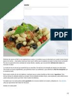 Thermorecetas.com-Alubias Con Salsa Pesto