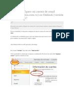 Cómo Configuro Mi Cuenta de Email en Outlook