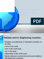 Chp 10 Pakistan Relations With Neighbours