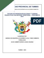 Estudio de Priorización de Zonas y Cadenas Productivas - Municipalidad Provincial de Tumbes