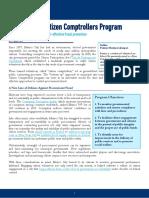Mexico City's Citizen Comptroller Program - CAPI Issue Brief - August 2016