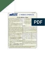 53. l'Hebdo Syndical 11 Août 2016