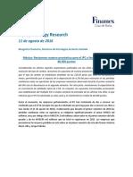 160811- Equity Strategy Research México Revisamos Nuestro Pronóstico Para El IPC a Finales de 2016 a 48,300 Puntos