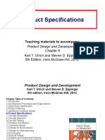 Chapter Six (Product Specifications)