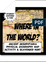 geography scavenger hunt mesopotamia e14