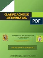 clasifica  del instrumental