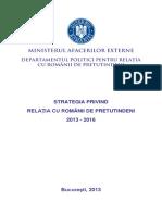 Strategie Privind Relatia Cu Romanii de Pretutindeni-2013