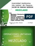 Operaciones Proceso de Mezclado Equipo 2
