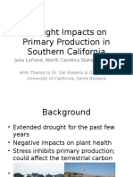 Effects of Drought on Terrestrial Primary Productivity in Southern California