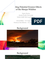 Modeling Potential Erosion Effects of the Sherpa Wildfire using the RUSLE