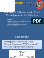 The Role of Different Agricultural Plant Species in Air Pollution