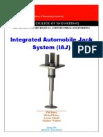 Integrated Automobile Car Jack (IAJ)