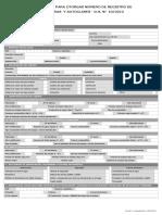 Formulario de Solicitud de Certificacion Calderas