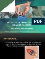 Protocolo de Trasplante Cadaver