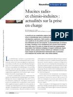 Mucites Radioet Chimio-Induites Actualités Sur La Prise en Charge