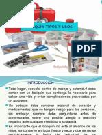 BOTIQUIN TIPOS Y USOS diapos EXPONER.pptx