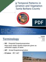 Examining Temporal Patterns in Evapotranspiration and Vegetation Cover in Santa Barbara County