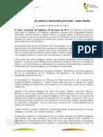 """09 01 2011 - El gobernador Javier Duarte de Ochoa encabezó el """"Encuentro de Alianza de Poder Espiritual y de Compromisos, Gobierno-Pueblos Originarios""""."""