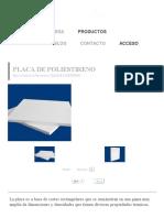 Placa de Poliestireno _ Rocacero