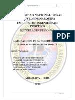 informe N°7 SALSA DE TOAMTE TERMINADO !!!